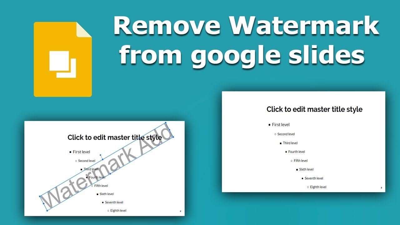 How To Remove Watermark From Google Slides Presentation Google Slides How To Remove Slides