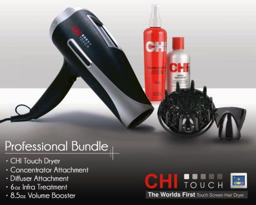 CHI-Touch-Dryer-w-Screen-Professional-Hair-Dryer-Bonus-Kit-Farouk-CHI-GF1231