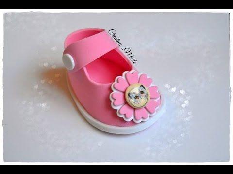 tutorial scarpetta portaconfetti bimbo/tutorial shoes for children - YouTube