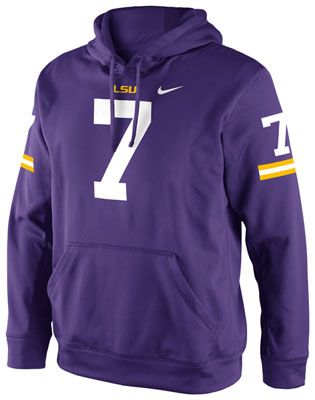 Lsu Tigers Purple Nike Football Jersey Hooded Sweatshirt Lsu Tigers Lsu Football Lsu