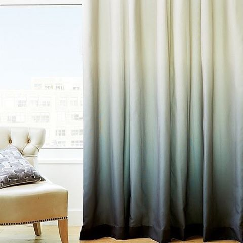 IdeasDeco #cortinas en degradé para tu #living! #telasxmetro #telas - Cortinas Decoracion