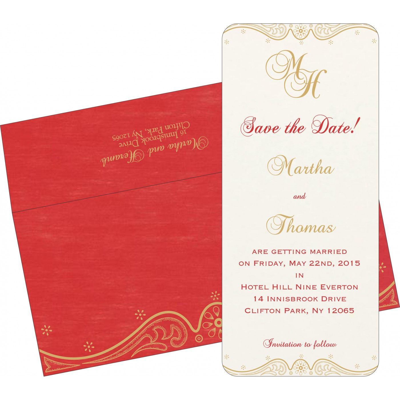 Give your wedding a special feel with our exclusive Red, White ...