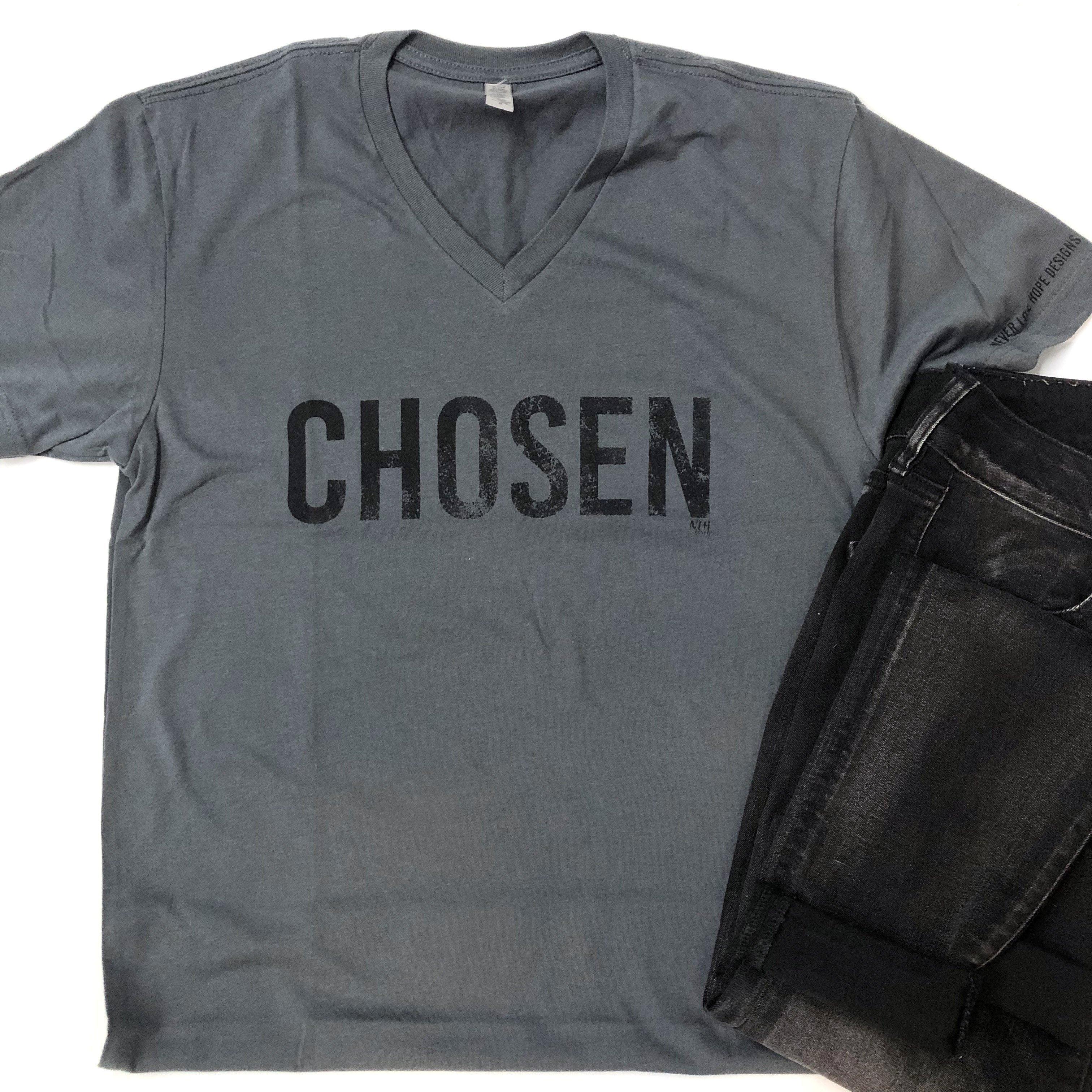 CHOSEN Short Sleeve T Shirt Gray | Sleeves, Shirts, T shirt