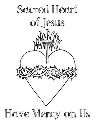 Look to Him and be Radiant: Sacred Heart of Jesus Coloring Pages ...