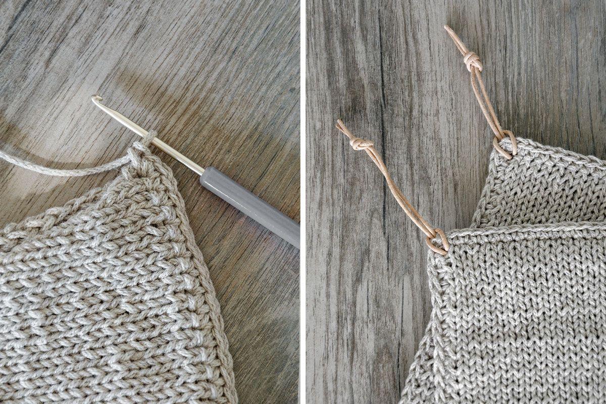 Schöne Strickanleitungen diy gestrickte topflappen und wie schöne randmaschen strickt