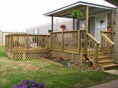 Metal Covers Mobile Home Porch Mobile Home Deck Home Porch | Steps For Mobile Homes Outdoor | Plastic | Small | Steel | Portable | Pressure Treated
