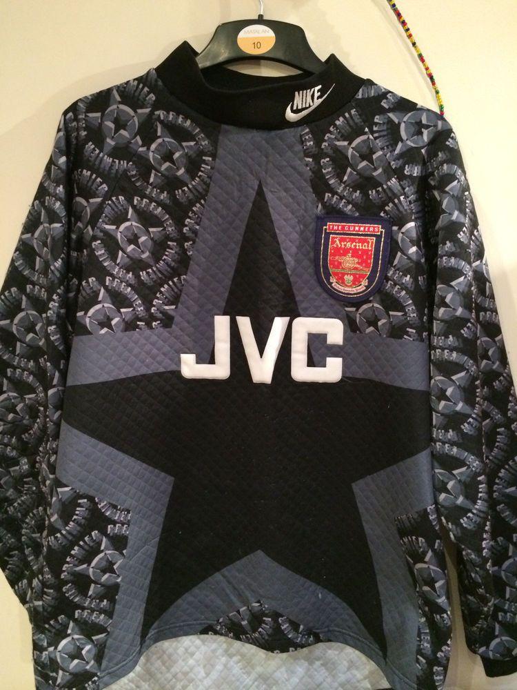 Arsenal retro Goalkeeper Football Shirt 93-94 vintage Nike JVC ... a053e9876