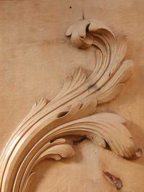 acanthe en tilleul | Wood Carvings | Pinterest | Sculpture ...
