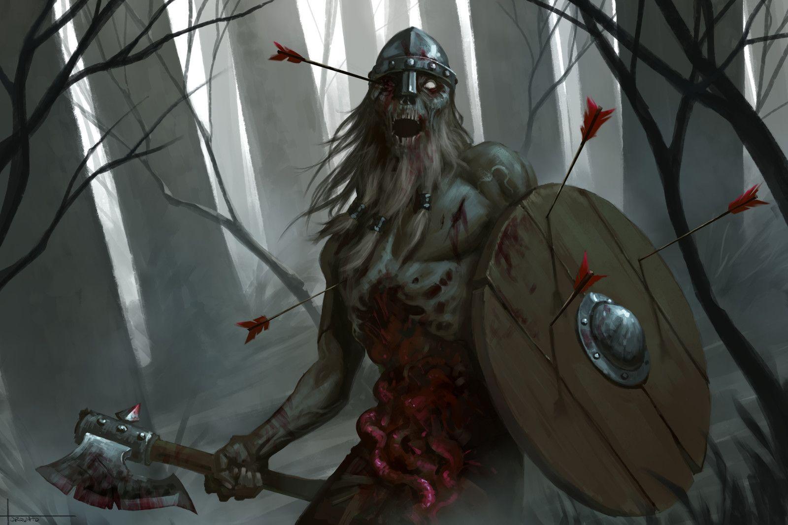 Zombie Viking, Lucas Torquato on ArtStation at https//www