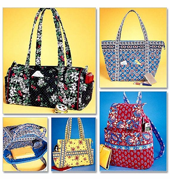 Pre Quilt Cloth Handbags Pattern Bags By Blue510