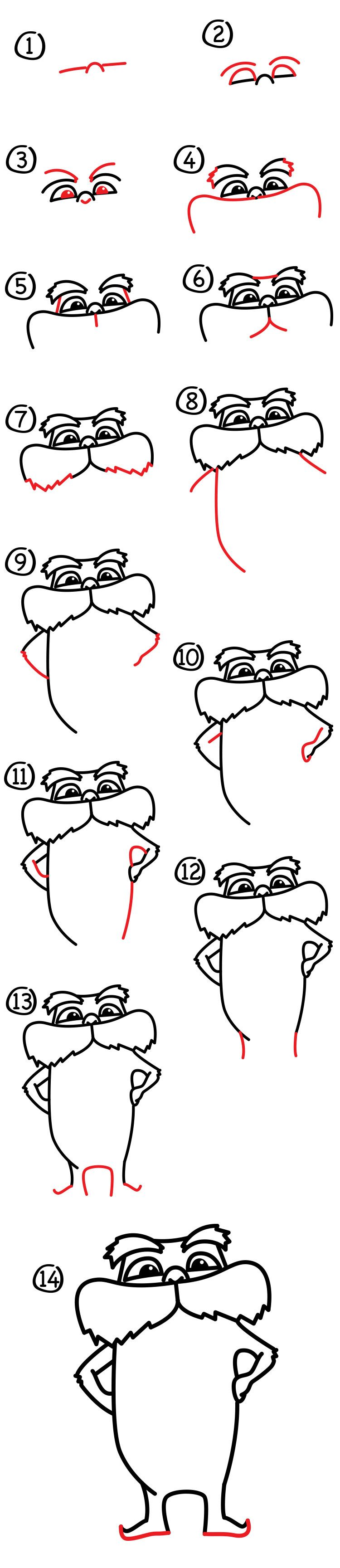 How To Draw The Lorax + Giveaway! - Art For Kids Hub - | Dibujo ...