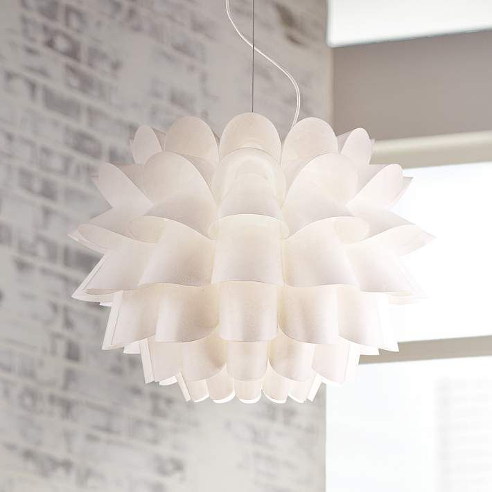 possini euro design white flower pendant chandelier style 02475