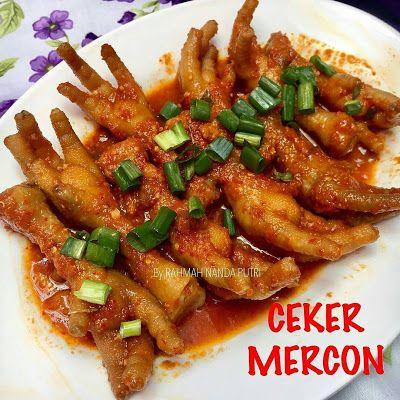 Resep Ceker Mercon By Rara Rnp Resep Makanan Pedas Makanan Dan Minuman
