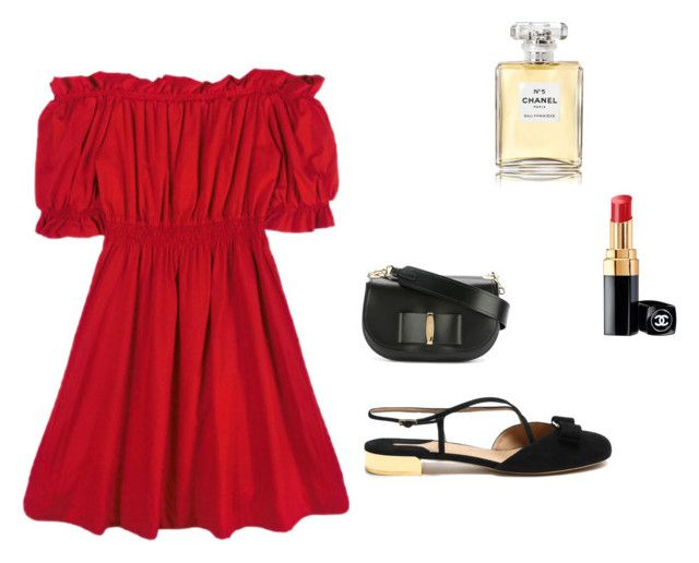 Untitled #116 by hannahwright615 on Polyvore featuring Chicnova Fashion, Salvatore Ferragamo and Chanel