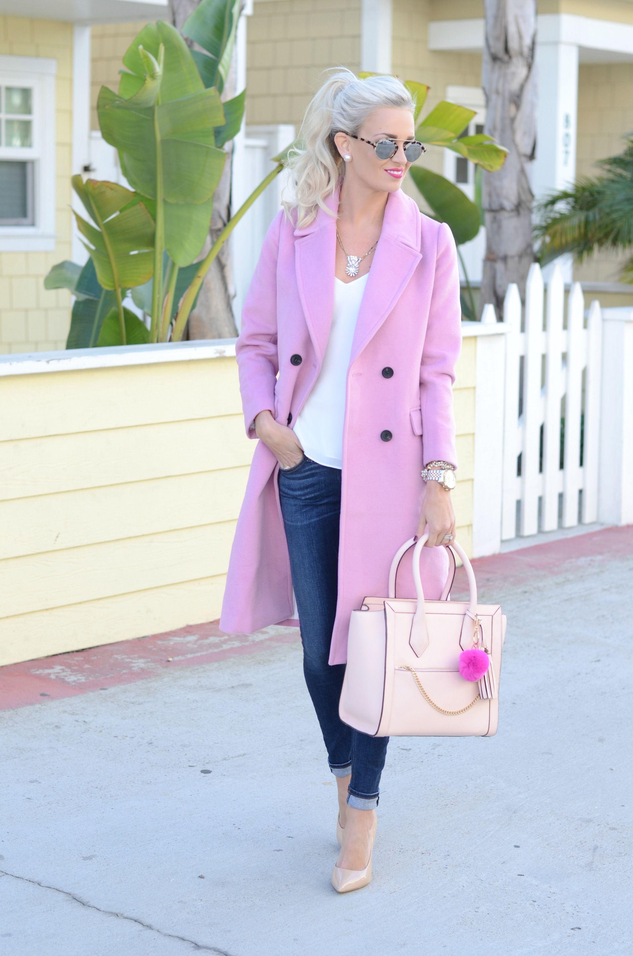 Pink Wool Coat Mckenna Bleu Pink Wool Coat Work Fashion Affordable Winter Fashion [ 3329 x 2205 Pixel ]