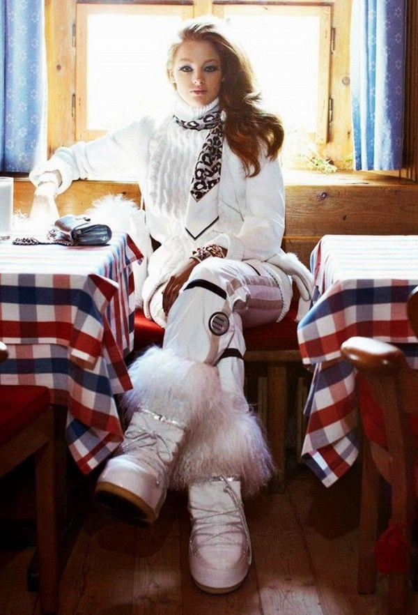 après ski chic | tenue de ski femme | moda, invierno et nieve
