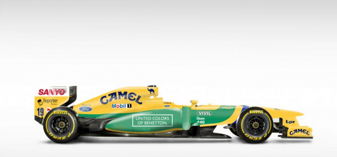 Modern F1 Cars With Retro Liveries