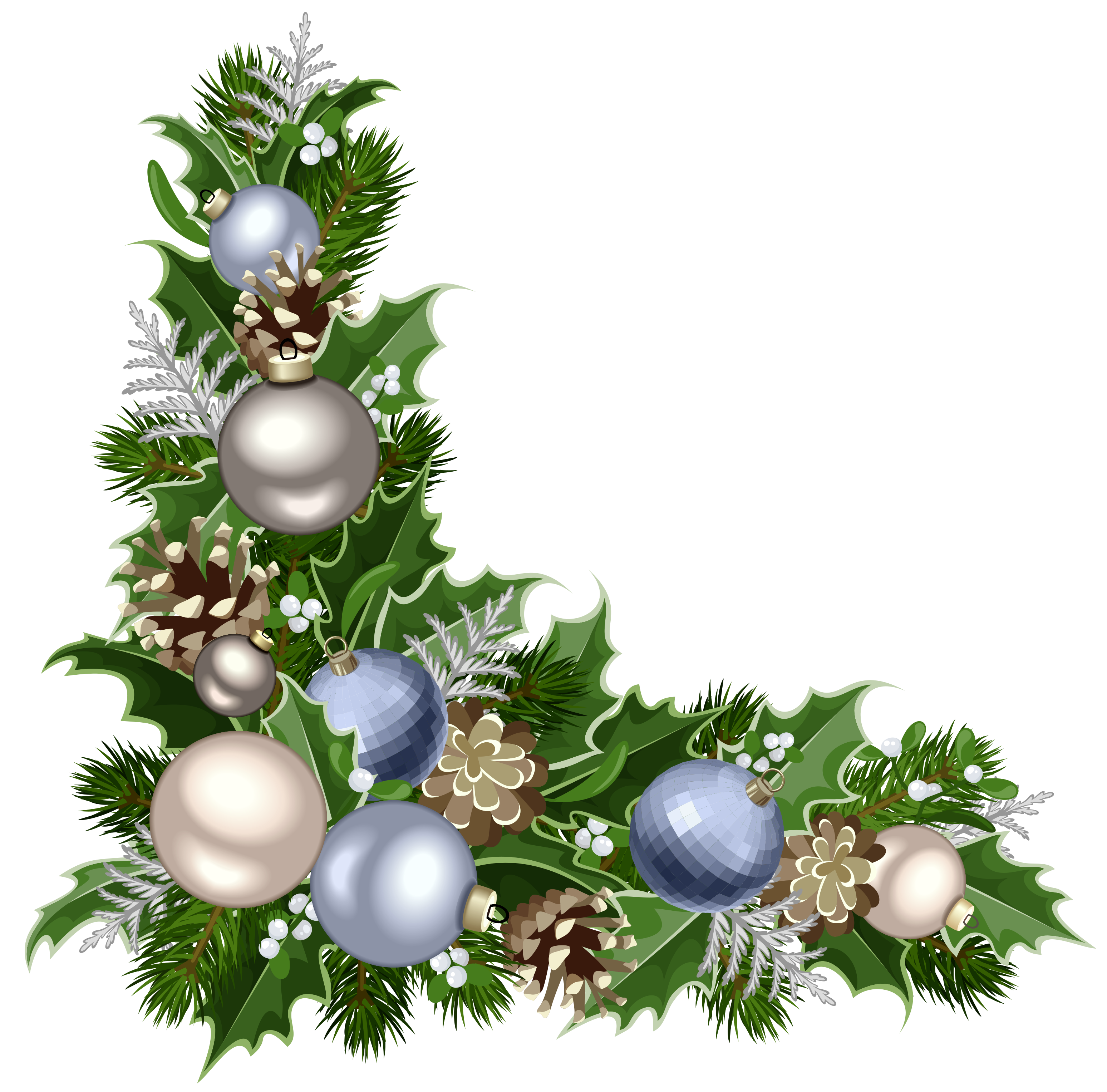 Christmas Deco Corner with Decorations PNG Picture | Karácsony ...