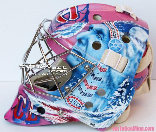 Carey Price's mask for cancer awareness