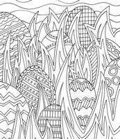 Adult coloring page Hunting in eggs coloring pages