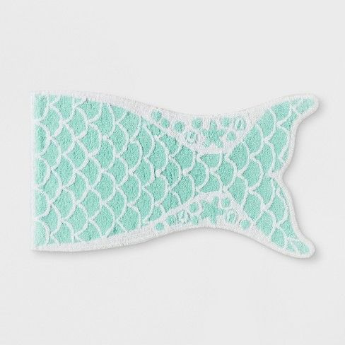 Mermaid Tail Bath Rug Crystalized Green Pillowfort With Images
