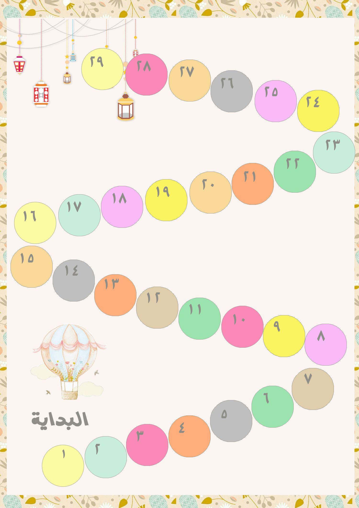جدول ختم القرآن Ramadan Crafts Baby Nursery Organization Crafts