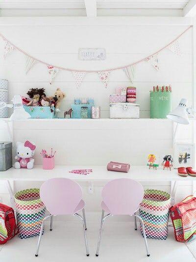 bureau double girls room en 2019 chambre enfant. Black Bedroom Furniture Sets. Home Design Ideas