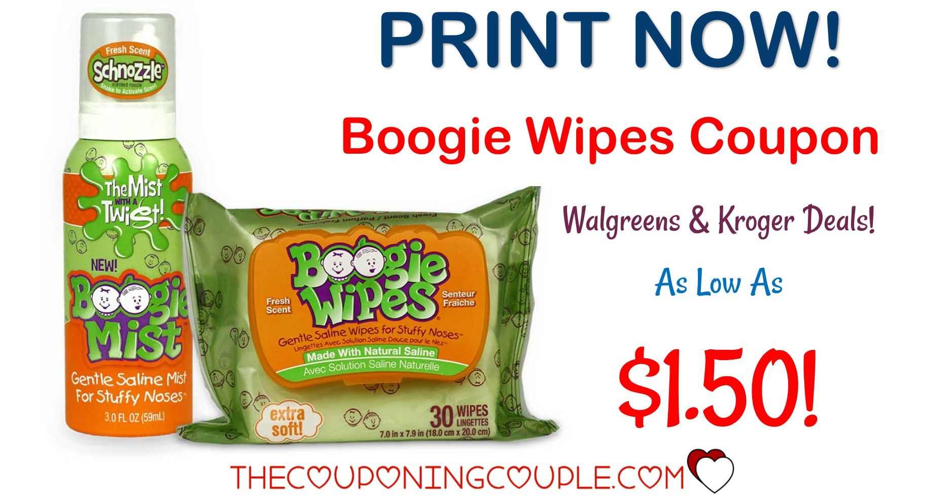 Boogie Wipes Deal With Coupon Walmart Deal Only 1 74