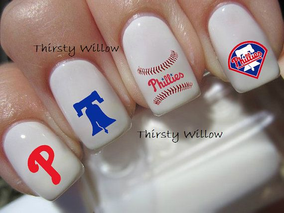 Philadelphia Phillies Nail Decals By Thirstywillow On Etsy
