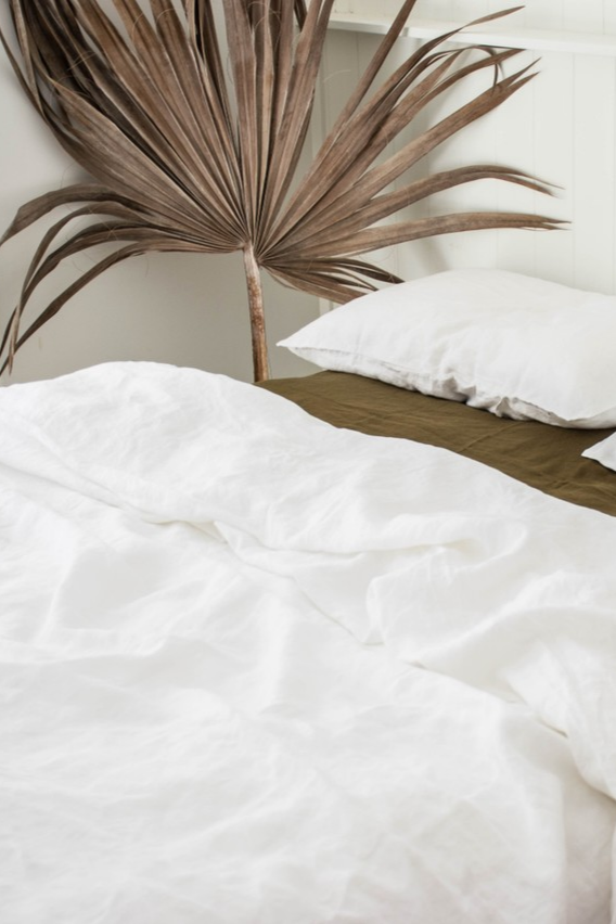 Nothing Beats White Olive 100 Pure French Flax Linen Bedding Sourced From France And Delivered Direct To Your Door Pure Linen Bedding Bed