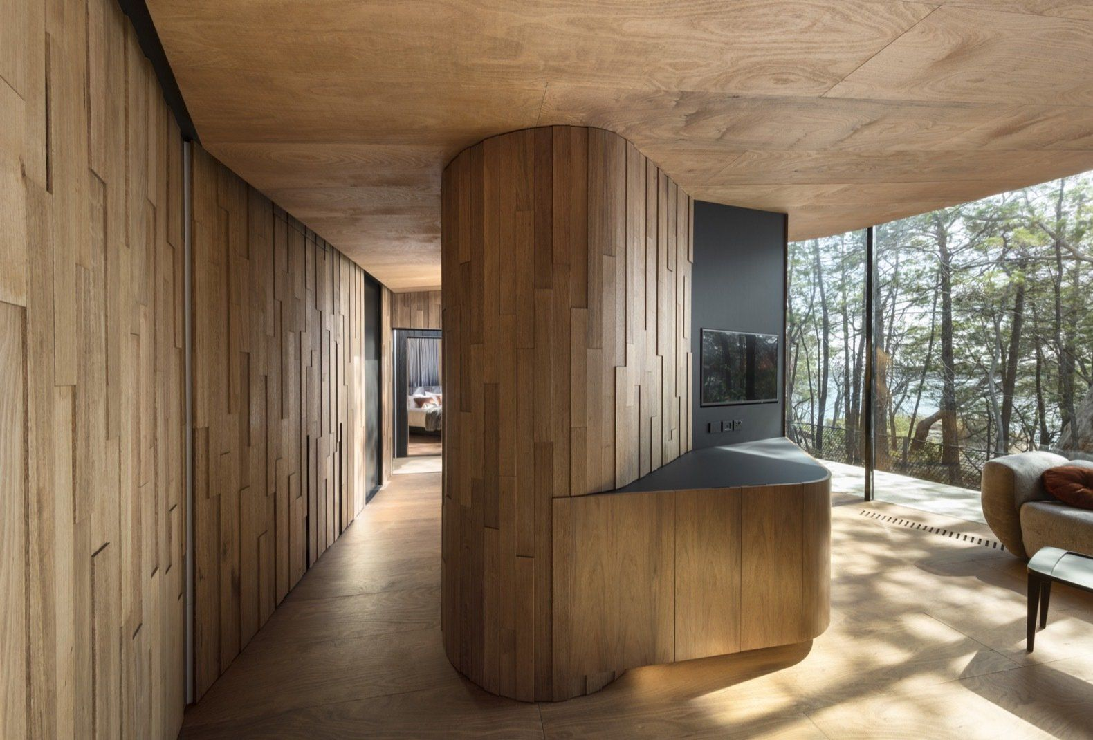 Photo 7 Of 13 In Escape To The Wilds Of Tasmania In These Eco Minded Coastal Living Rooms Architecture Contemporary House