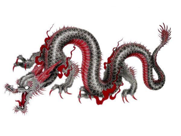 Japanese Chinese Dragon Tattoo Design Y Tưởng Hinh Xăm Hinh Xăm Dragon