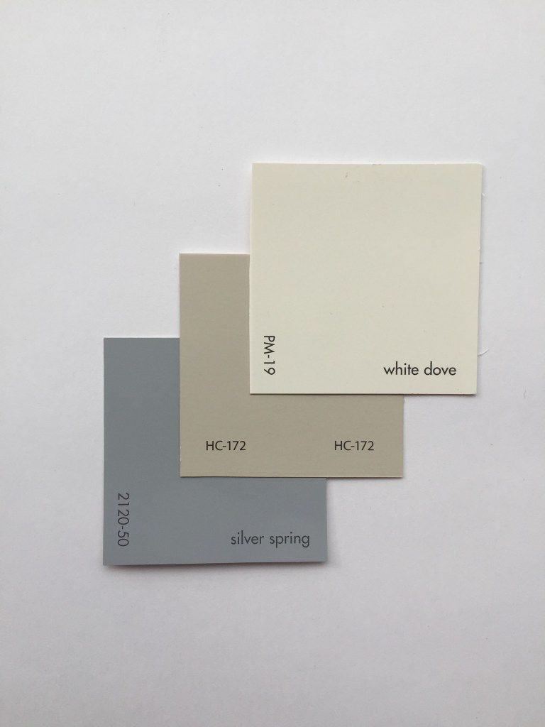white dove paintBenjamin Moore WHITE DOVE PM19 REVERE PEWTER HC172 SILVER