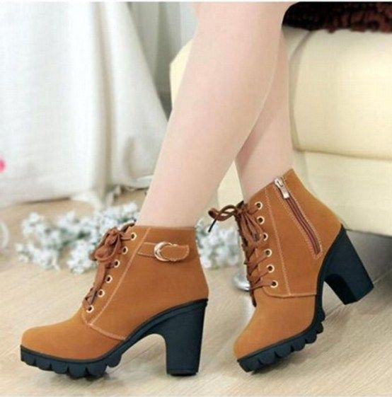 2015 Autumn/Spring New Women Ankle Boots Thick Heels Martin Shoes Size(35-40) 3 colors Fashion Comfortable thick sole pumps