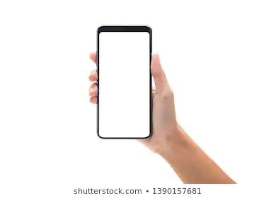 Woman Hand Holding Black Smartphone Blank Stock Photo Edit Now 1412466680 Photo Editing Stock Photos Smartphone Technology
