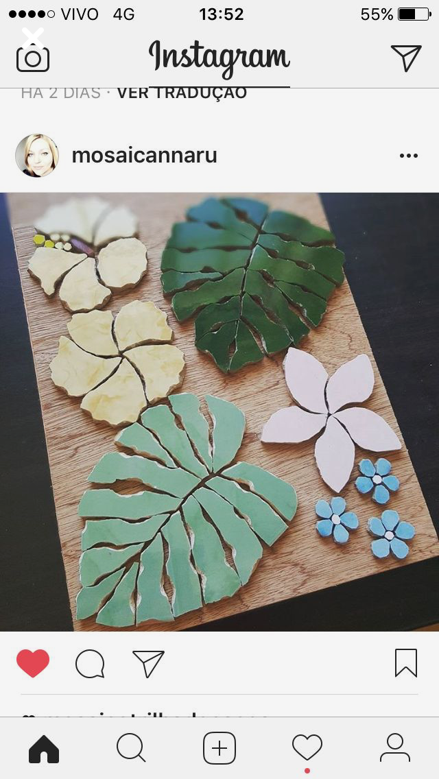 Pin de Davisstudios en Wall Art   Pinterest   Mosaicos, Flores y Hoja