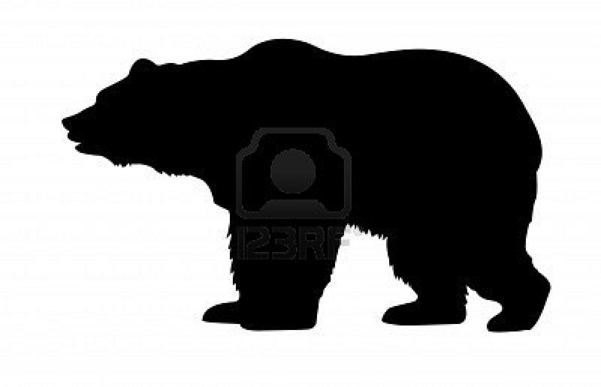 bear silhouette for bear crossing sign  crafty  pinterest  - bear silhouette for bear crossing sign