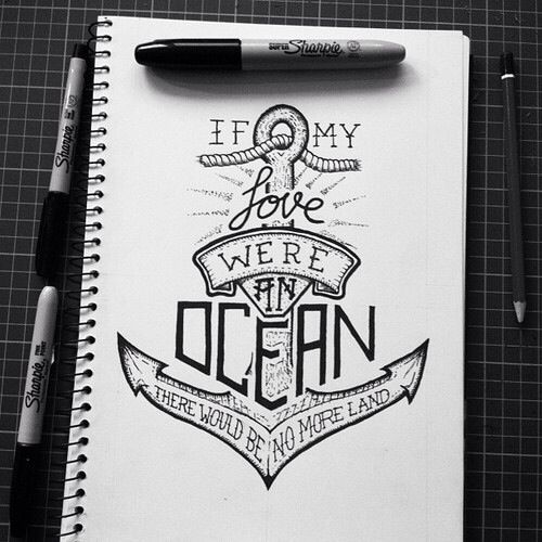 Anchor Love Quote Drawing Art Anchor Compass Pinterest