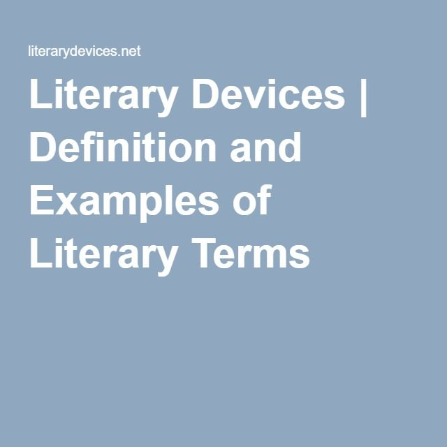 Literary Devices Dictionary that provides definitions and