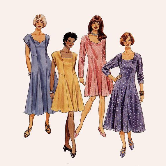 281 McCalls 7730 Womens Princess Seam Flared by ladydiamond46