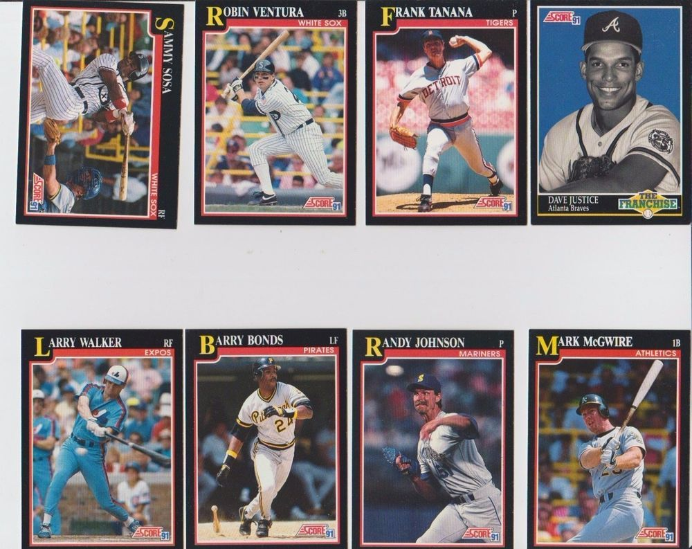 Baseball Card Lot 33 Score 91 Barry Bonds Roger Clemens