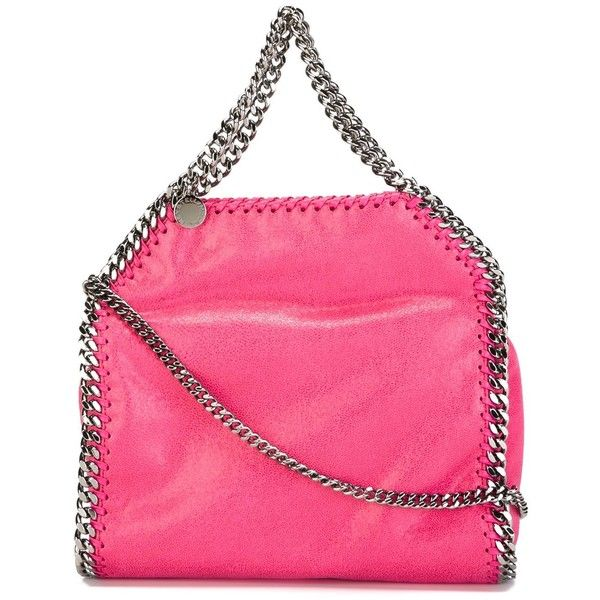 Stella McCartney 'Falabella' tote (€710) ❤ liked on Polyvore featuring bags, handbags, tote bags, pink, pink leather tote bag, pink leather handbags, faux leather tote, leather tote purse and tote handbags
