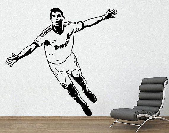 Cool Ronaldo Fu ball Fu ball Spieler mit der ersten europ ischen Liga Wandtattoo Aufkleber Vinyl Wall Art ETWD