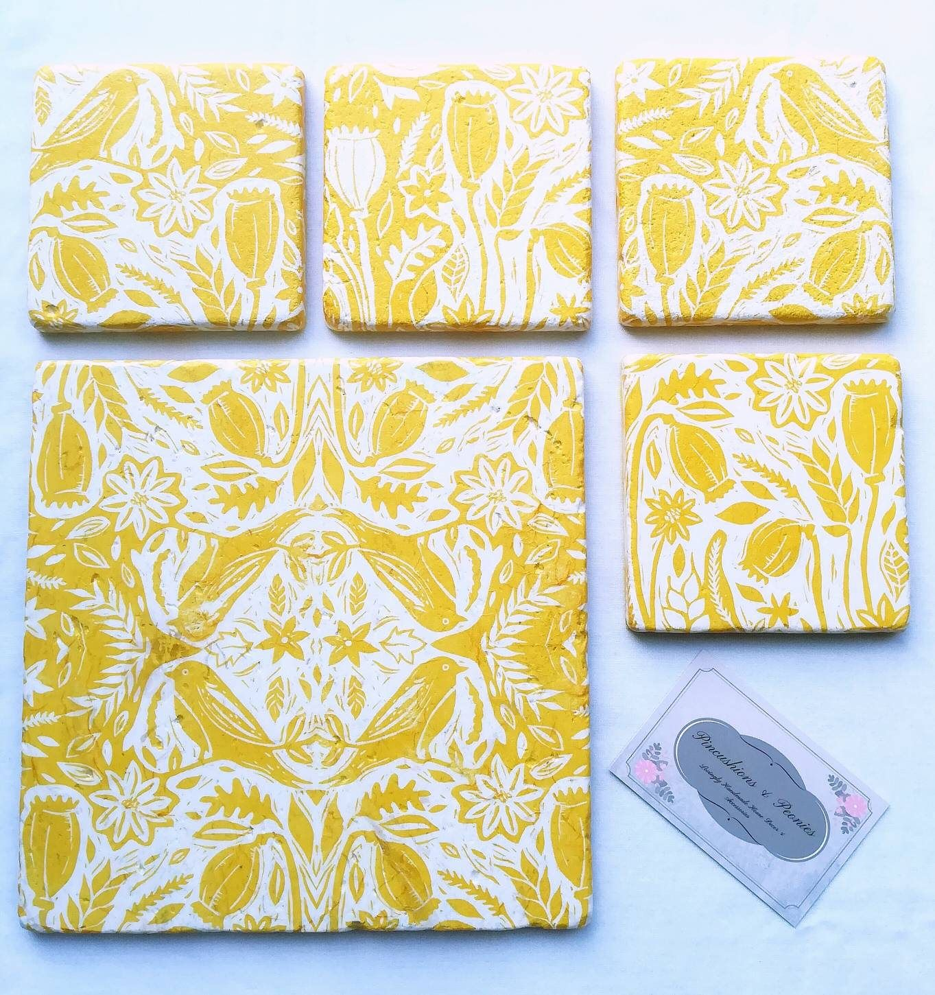 Yellow White Nature Placemat Coaster Set Placemats Coasters Stone Tableware Ochre Mustard Yellow Decor Natural Decor Yellow Coaster Mustard Yellow Decor Nature Decor Yellow Decor