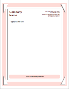 Letterhead template at word documents microsoft templates letterhead template at word documents spiritdancerdesigns Images
