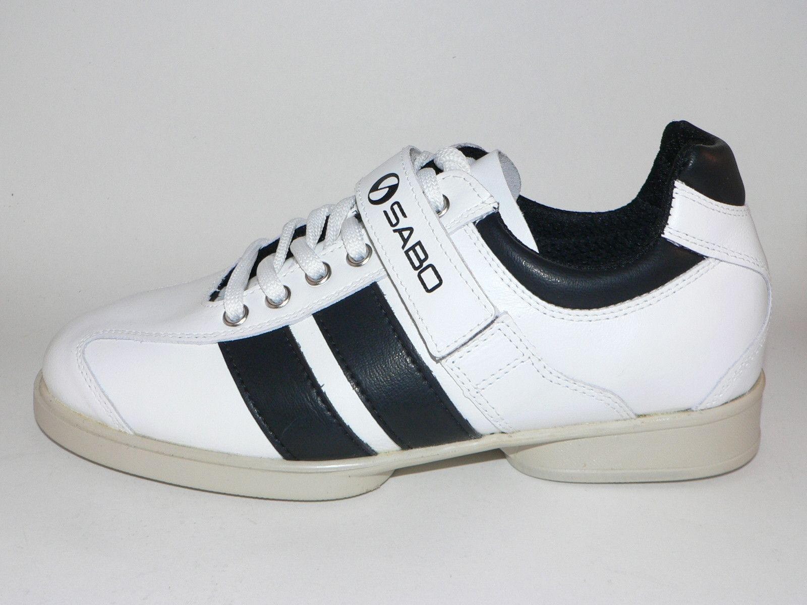 90ace2640178 White SABO weightlifting shoes. Now available in the USA
