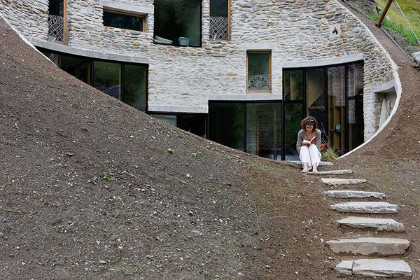 Underground Home Designs - Swiss Mountain House Rocks! | Mountain ...