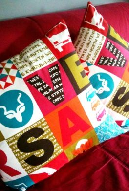 Proudly South African cushions @Roelof Buitendag