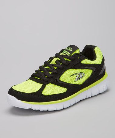 Take a look at this Black & Neon Yellow Athena Sneaker by Pro Player on #zulily today!