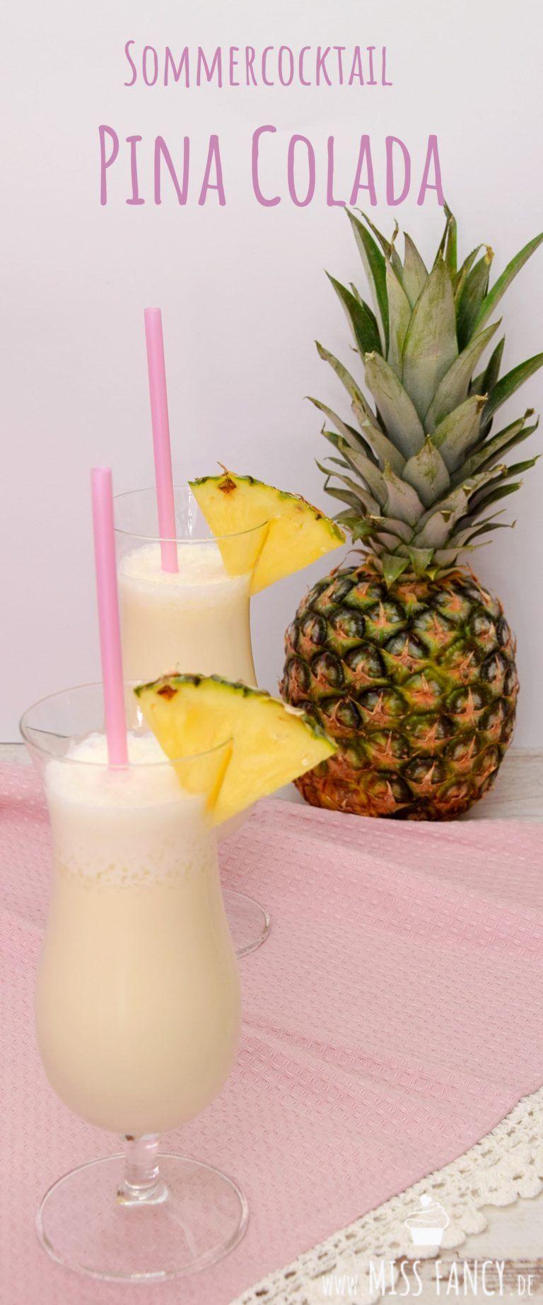 Sommercocktail Piña Colada | Miss Fancy - Rezepte für jeden Tag